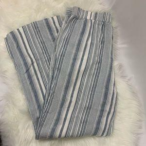 Striped Cotton Linen Pants High Lauren Conrad med